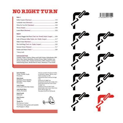 Photo2: No Right Turn [ No Right Turn ] LP